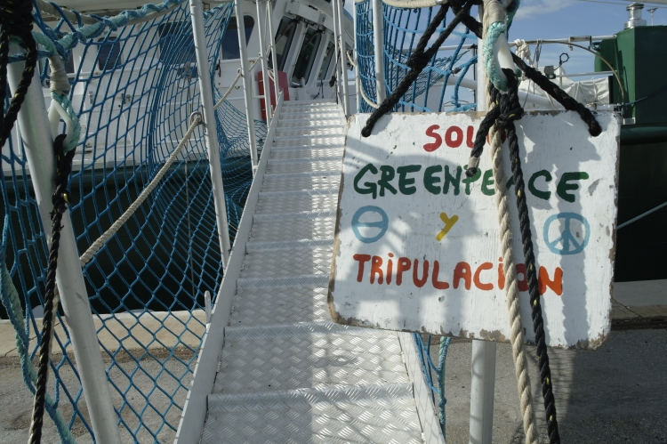 The Rainbow Warrior Gangway.