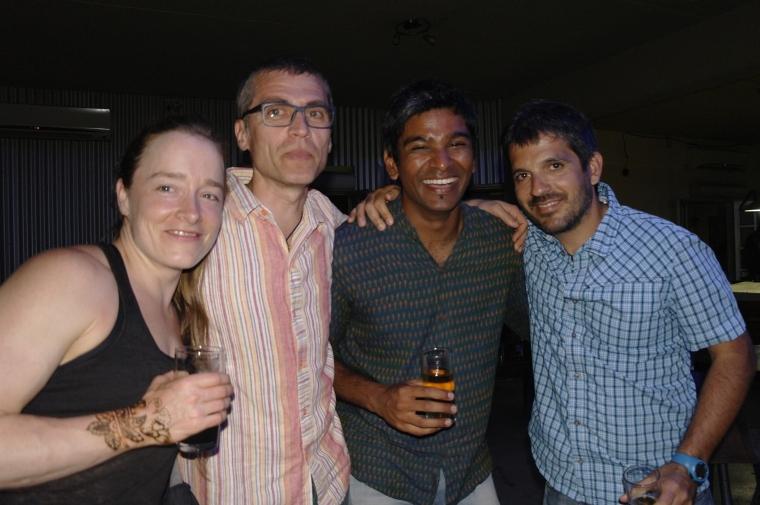Crew: Usnea (Deckhand), Florin (Electrician), Amrit (Deckhand) and Fernando (Chief Mate).