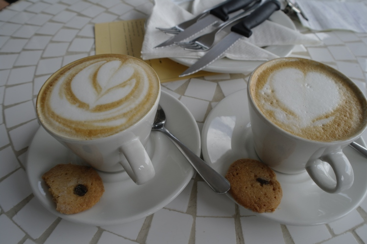 His and Hers? Smooth cappuccino.