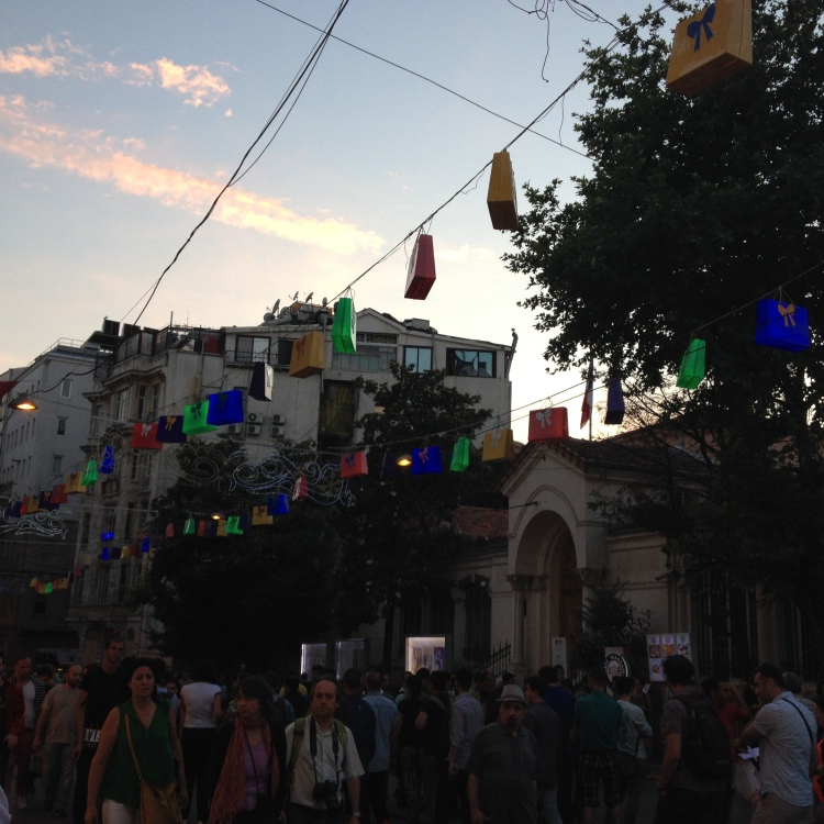 Istiklal Caddesi at Sunset.